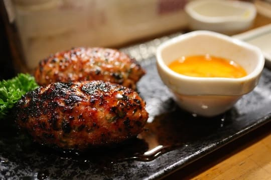 Grilled chicken ball