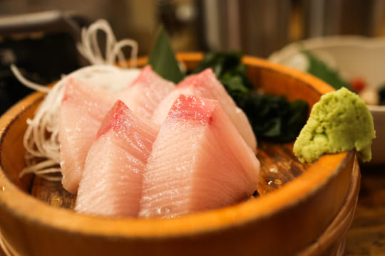Fresh sashimi at Izakaya