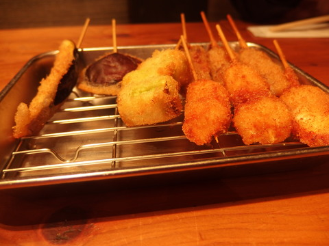 Kushiage sticks