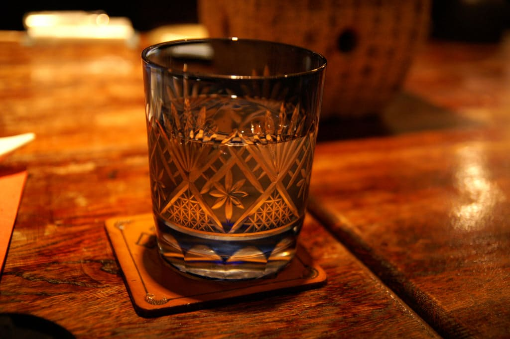 (Shochu is Japanese liquor with strong alcohol and a refreshing taste.