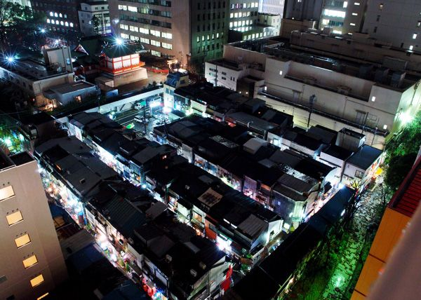 Shinjuku Golden Gai Street - Bird's eye view